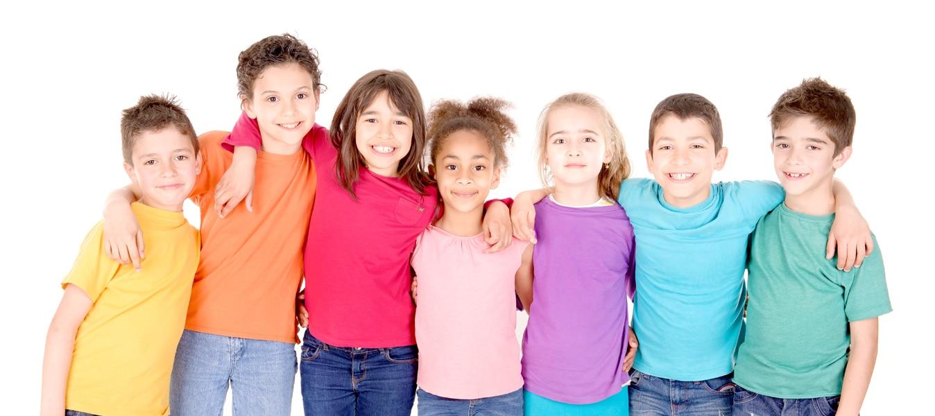 Alunos do curso de inglês CCAA para crianças